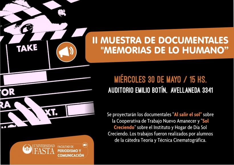 """II Muestra de Documentales: """"Memorias de lo Humano"""""""