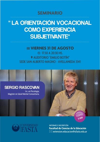 """Seminario - Taller : """"La Orientación Vocacional como Experiencia Subjetivante"""""""