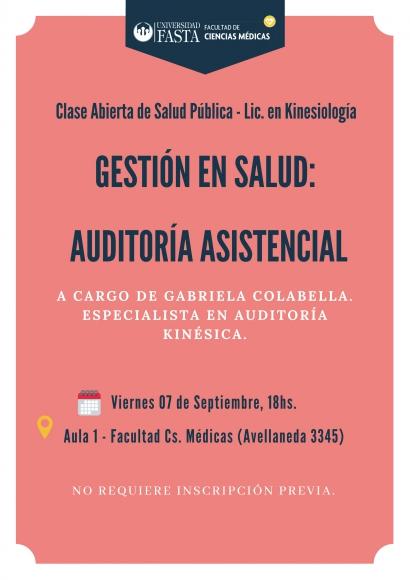 """""""Gestión en Salud: Auditoría Asistencial"""""""