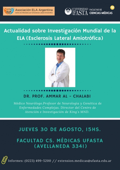 Conferencia sobre Esclerosis Lateral Amiotrófica (ELA)