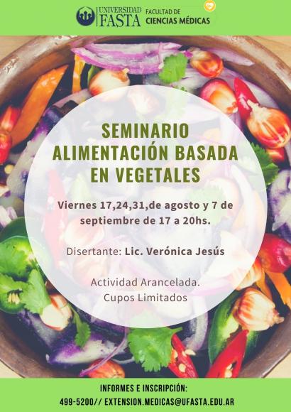 """Seminario """"Alimentación basada en vegetales"""""""