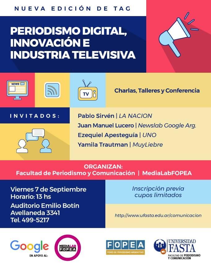 TAG 2018: Periodismo Digital, Innovación e Industria Televisiva