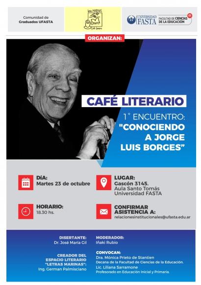 """Café Literario """"Conociendo a Jorge Luis Borges"""""""