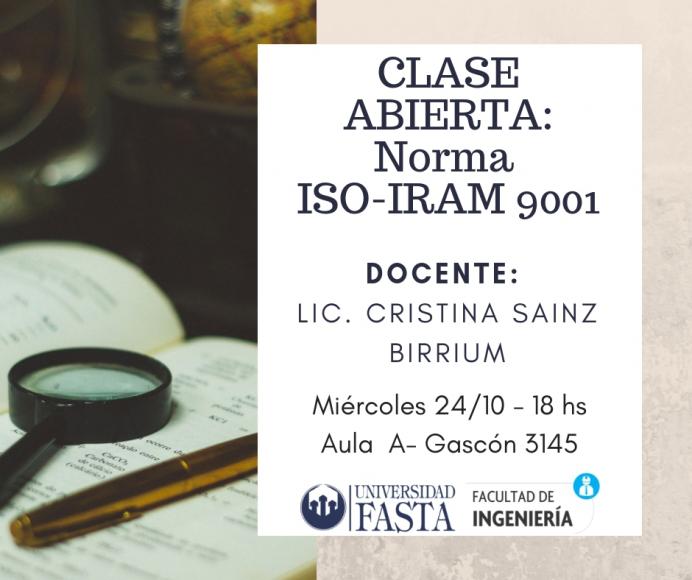 CLASE ABIERTA: Norma ISO-IRAM 9001