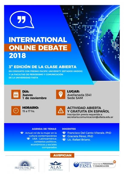 ANÁLISIS DE LA INFORMACIÓN INTERNACIONAL. International Online Debate 2018