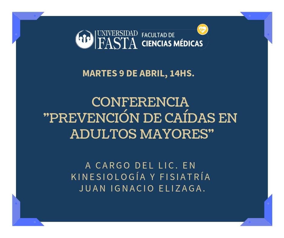 """Conferencia """"Prevención de caídas en adultos mayores"""""""