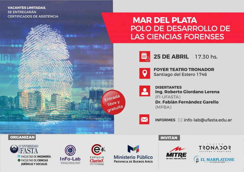 CHARLA: Mar del Plata, polo de desarrollo de las Ciencias Forenses