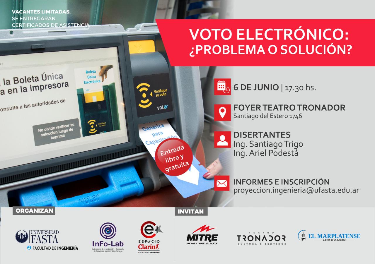 CHARLA: Voto electrónico ¿problema o solución?