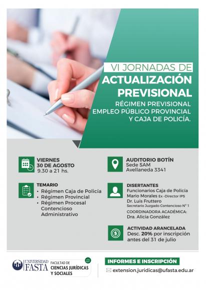 VI Jornadas de Actualización Previsional