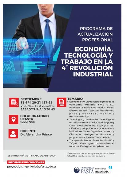 PROGRAMA - Economía, tecnología y trabajo en la 4ta revolución industrial