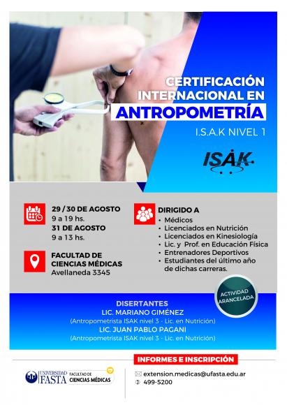 Curso Internacional en Antropometría - ISAK Nivel 1