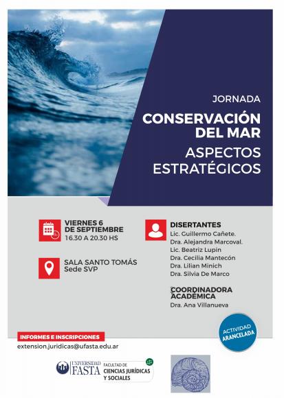 Jornada: Conservación del Mar - Aspectos Estratégicos
