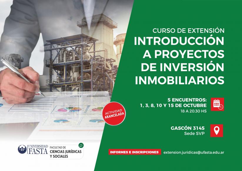 Introducción a proyectos de inversión inmobiliarios