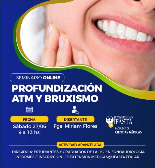Seminario de Profundización en ATM y Bruxismo - ONLINE