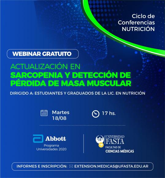 Webinar - Actualización en sarcopenia y detección de pérdida de masa muscular