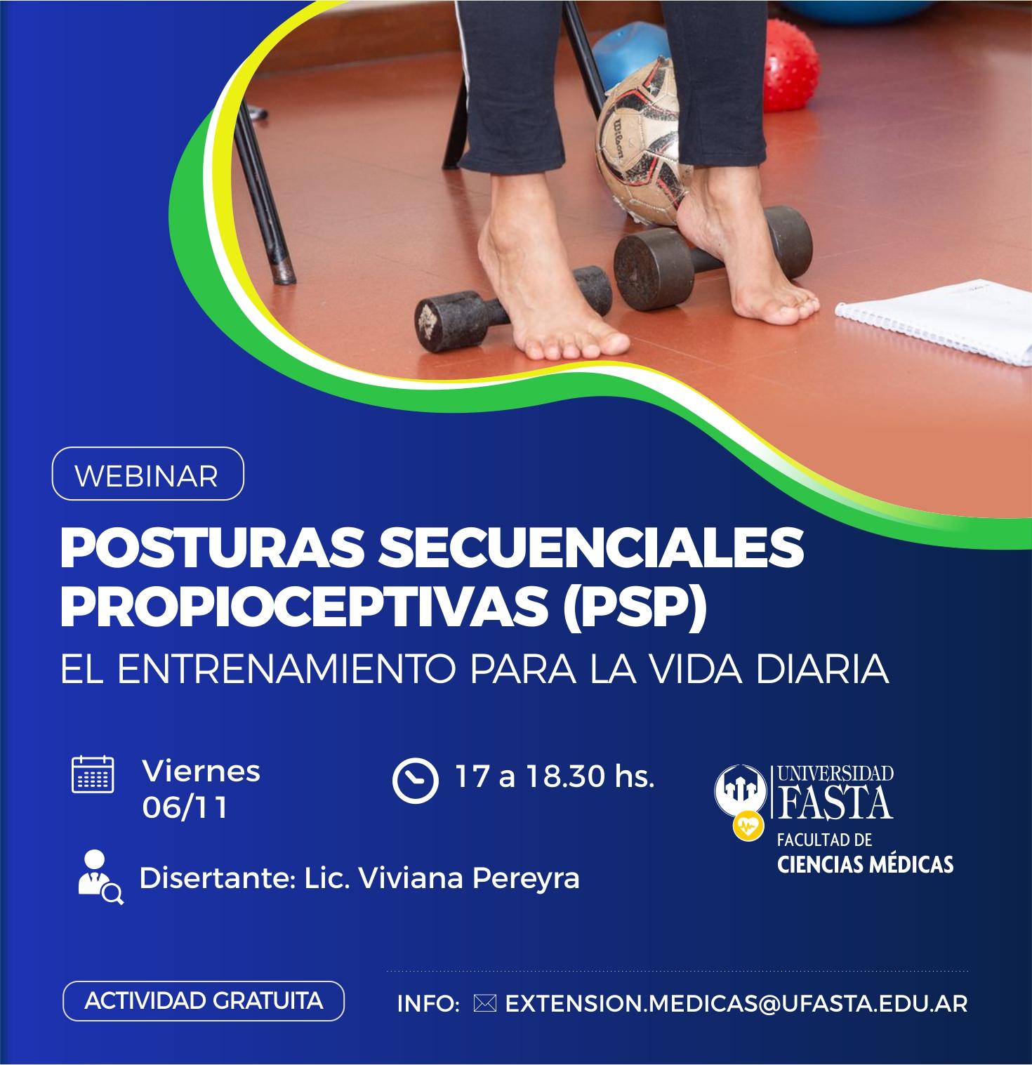 """Webinar Gratuito - """"Posturas Secuenciales Propioceptivas (PSP), entrenamiento para la vida diaria"""""""