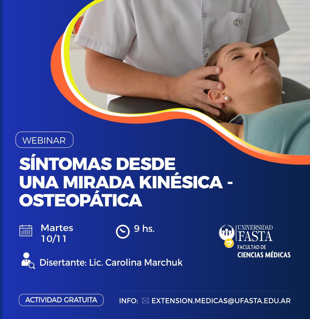 Webinar: Síntomas desde una mirada Kinésica - Osteopática.