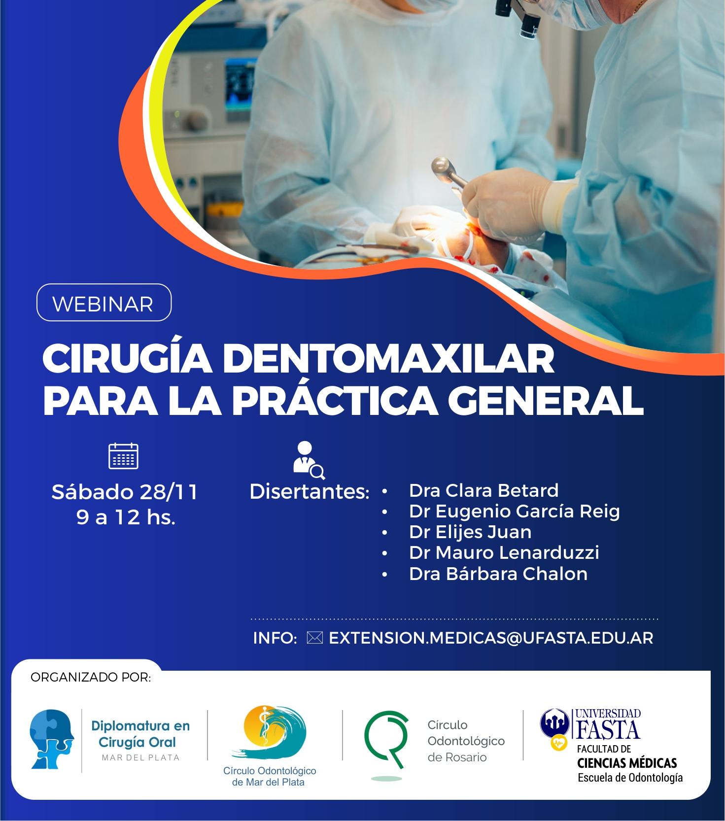Webinar GRATUITO - Cirugía dentomaxilar para la práctica general.