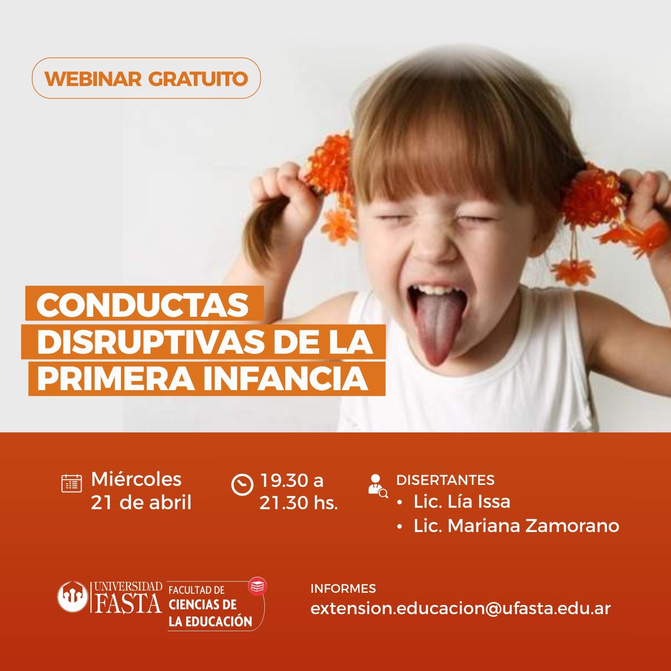 Webinar: Conductas Disruptivas de la Primera Infancia