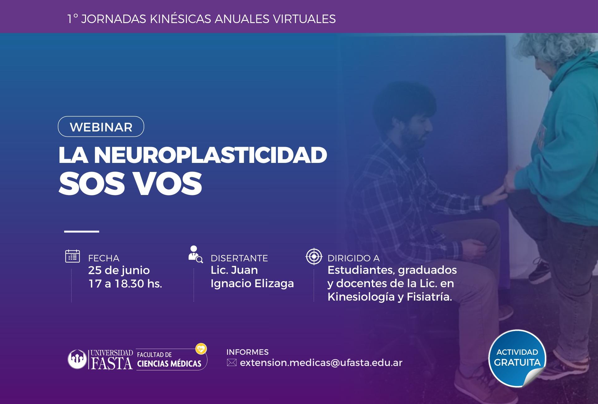 """WEBINAR - """"La Neuroplasticidad sos vos""""."""
