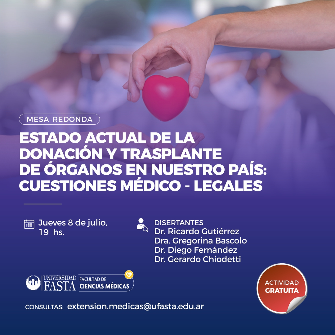 """Mesa Redonda: """"Estado actual de la donación y trasplante de órganos en nuestro país: Cuestiones médico-legales"""""""