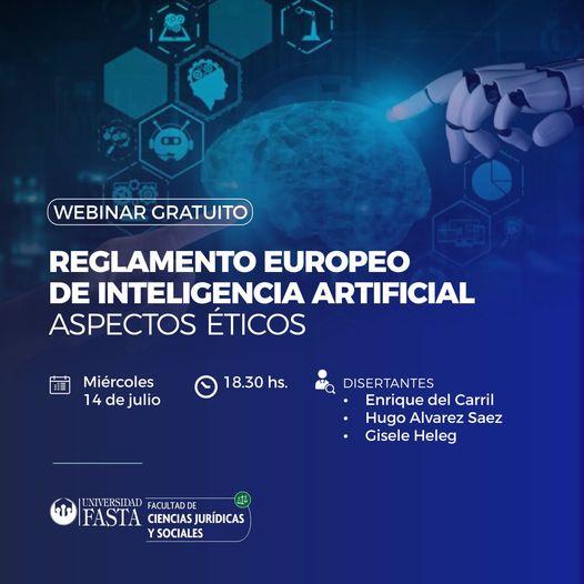 Webinar: Reglamento Europeo de Inteligencia Artificial: Aspectos Éticos
