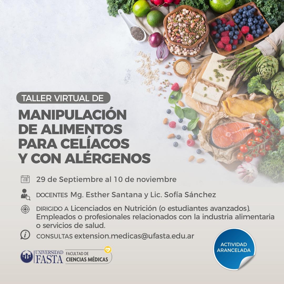 Taller: Capacitación en manipulación de alimentos para celíacos y con alérgenos