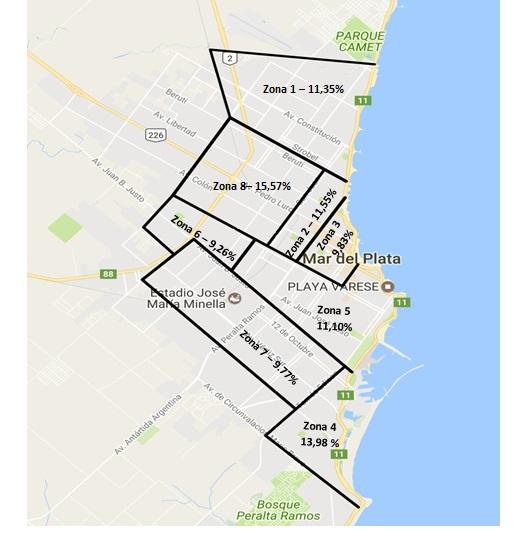 Cuadro 4 - Mapa de zonas